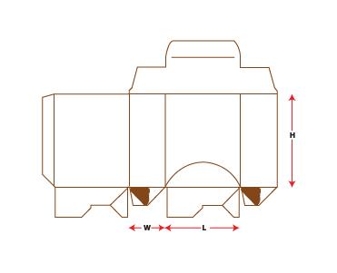 Tuck End Dispenser Packaging Box