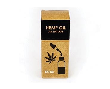 Custom Kraft Hemp Oil Boxes