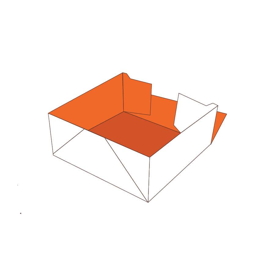 Custom Four Corner Tray Boxes