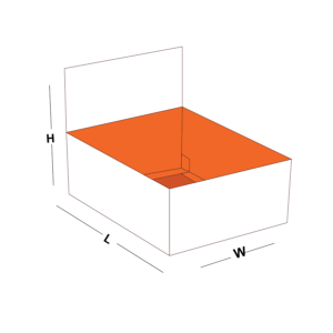 Double Wall Tray with Lid